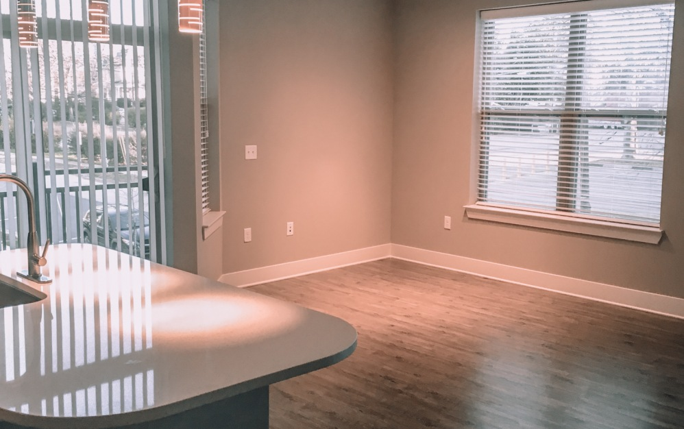 C2-2 - 2 bedroom floorplan layout with 2 baths and 1199 square feet. (Living/Dining Space)
