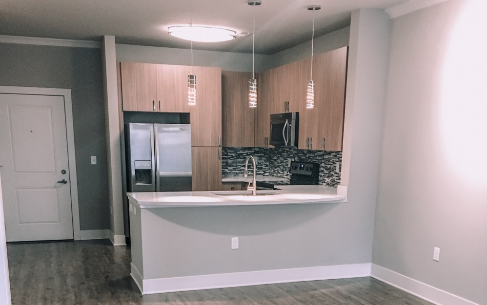 B1 - 1 bedroom floorplan layout with 1 bath and 750 square feet. (Kitchen)
