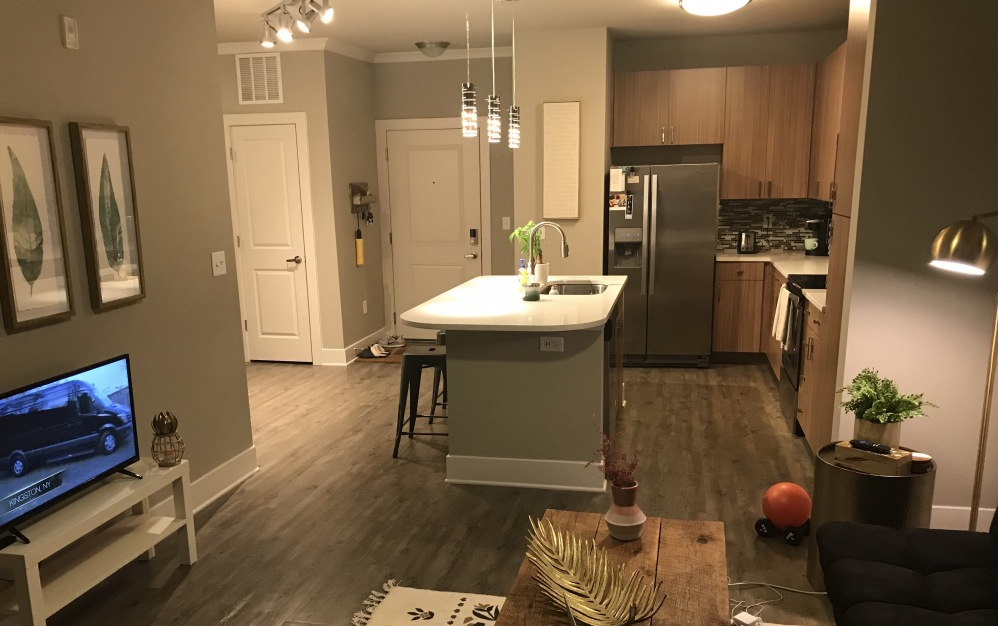 Captivating One Bedroom Apartment with Downtown Raleigh Skyline View