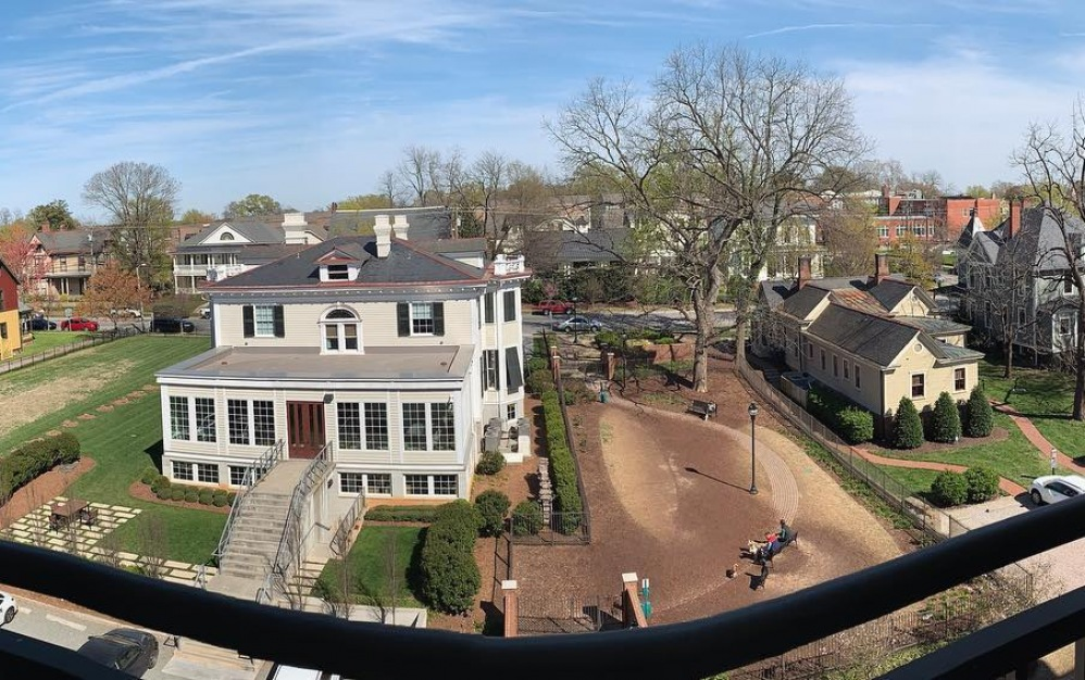 Beautiful view of Historic Oakwood from Apartment in Raleigh North Carolina