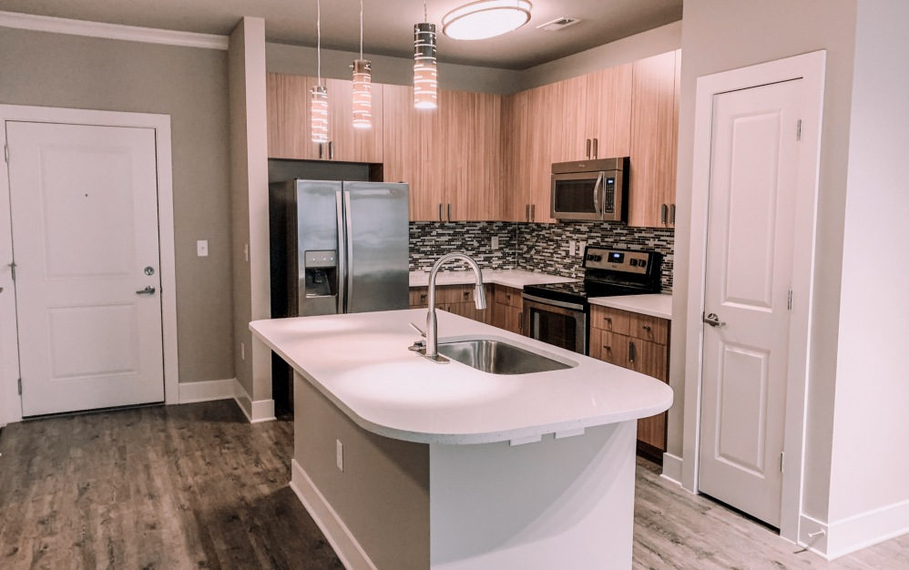 B1-1 - 1 bedroom floorplan layout with 1 bath and 750 square feet. (Kitchen)
